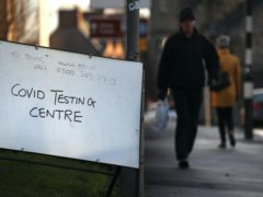 The percentage of coronavirus tests coming back positive in Scotland has dropped (Andrew Milligan/PA)