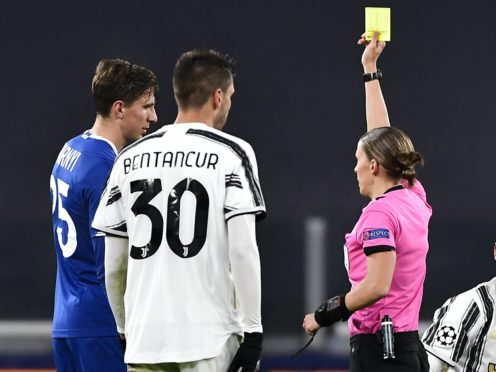 Stephanie Frappart is the first woman to referee a Champions League game (Marco Alpozzi/AP)