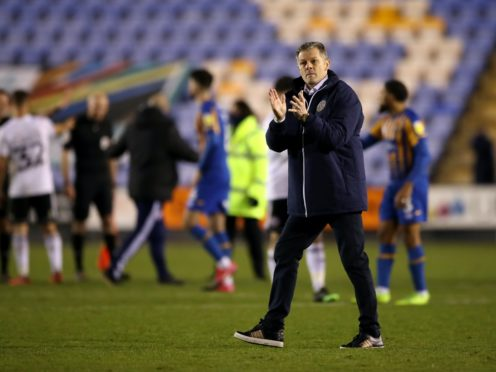 Steve Cotterill applauded his players (Nick Potts/PA)