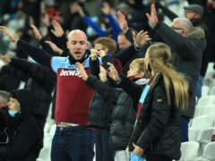 Fans returned for just one match at West Ham (Adam Davy/PA)