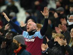 West Ham fans attended the club's recent Premier League match at home to Manchester United (Justin Setterfield/PA).