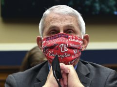 "US infectious diseases expert Dr Fauci has topped Yale Law School library's annual list of quotes with 'Wear a mask"" (Kevin Dietsch/Pool/AP)"