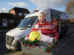 Comedian Jason Manford, who has joined the Action for Children team in support of the Secret Santa campaign which supports vulnerable children at Christmas (Jon Super/PA)