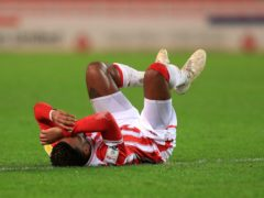Stoke striker Tyrese Campbell is expected to miss the rest of the season (Mike Egerton/PA)