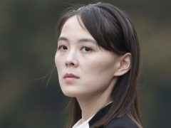 Kim Yo Jong, sister of North Korea's leader Kim Jong Un, has warned of consequences after South Korea's foreign minister expressed doubts over the North's claims to be coronavirus-free (Jorge Silva/Pool/AP)