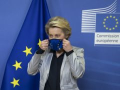 European Commission president Ursula von der Leyen has said there is a 'path' to an agreement on a post-Brexit trade deal but arguments over fishing rights continue (Aaron Chown/PA)