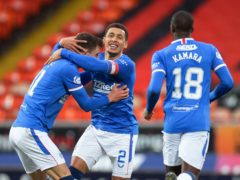 James Tavernier (centre) has been in tremendous form for Rangers this season (Willie Vass/PA)