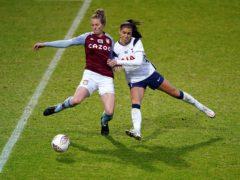 Tottenham's Alex Morgan (right) scored a penalty in her side's 3-1 win over Aston Villa (Zac Goodwin/PA)