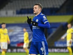 Jamie Vardy scored Leicester's second goal in a 3-0 win (Ben Stansall/PA)