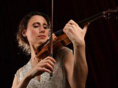 Violin soloist Jennifer Pike during a rehearsal (Ben Birchall/PA)