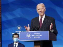 Joe Biden has announced Pete Buttigieg as his nominee for transport secretary (Kevin Lamarque/Pool/AP)