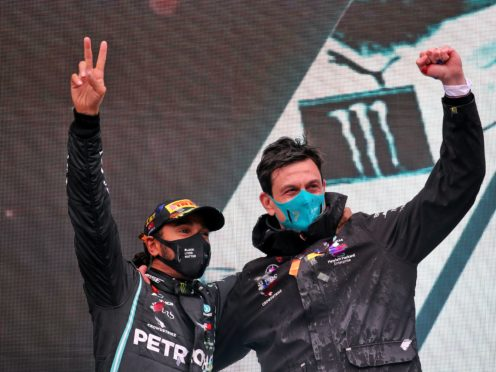 Lewis Hamilton and Toto Wolff are set to continue their partnership (PA Wire)