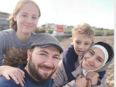Lilian, Mahmoud, Laith and Khawla, who moved to the UK in 2018 (Migrant Help/PA)