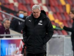 Steve Bruce's Newcastle were knocked out of the Carabao Cup quarter-finals by Brentford (Adam Davy/PA)