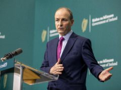 Handout photo issued by Julien Behal Photography of Taoiseach Micheal Martin during a media briefing at Government Buildings, Dublin.