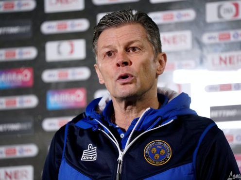 Steve Cotterill has sparked a Shrewsbury resurgence (Zac Goodwin/PA)
