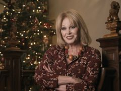 Joanna Lumley recording a special reading of 'Twas The Night Before Christmas for the Actors' Benevolent Fund at Clarence House (Clarence House/PA)