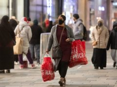 Shoppers in Leicester during the Boxing Day sales (Joe Giddens/PA)
