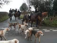 A Boxing Day hunt near Husthwaite, North Yorkshire (Danny Lawson/PA)