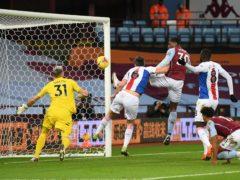 Kortney Hause heads in Aston Villa's second (Shaun Botterill/PA)