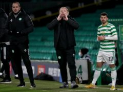 Celtic manager Neil Lennon (centre) is no fan of silent Old Firm games (Andrew Milligan/PA)