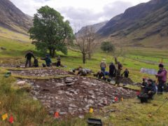 Archaeologists have been studying the homes (National Trust for Scotland/PA)