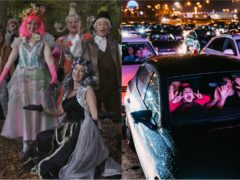 Many pantomimes have been forced to create online or to drive-in versions of their productions (Basel English Panto Group and Matt Eachus/Parking Lot Social)
