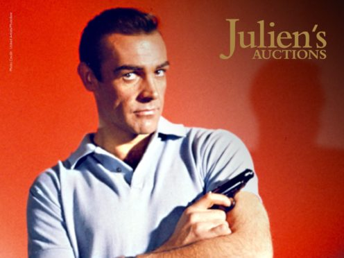 A pistol used by Sir Sean Connery in the first James Bond film Dr No has sold at auction for 256,000 dollars (£190,000) (Julien's Auctions/PA)
