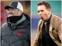 Jurgen Klopp and Julian Nagelsmann will meet in the last 16 (Clive Brunskill/John Walton/PA)