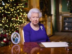 The Queen records her annual Christmas message at Windsor Castle (Victoria Jones/PA)