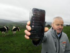 Joe Hayden on the Haydens Baileys Farm in Co Wicklow (Brian Lawless/PA)