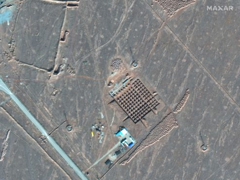 Construction at Iran's Fordo nuclear facility (Maxar Technologies/AP)