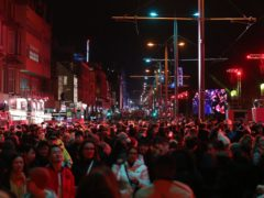 Hogmanay street parties have been replaced by online events because of Covid-19 (Andrew Milligan/PA)