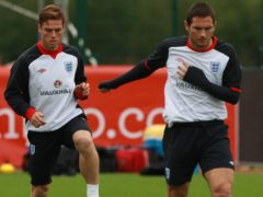 Scott Parker (left) played with Frank Lampard for Chelsea and England (Nick Potts/PA)