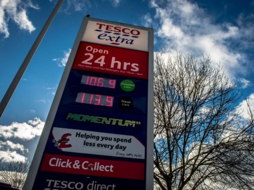 Tesco has taken some payments made at its petrol stations months after the transactions were first made, MoneySavingExpert.com has reported (Ben Birchall/PA)