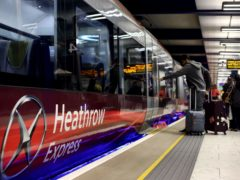 Security firm Redline planted the fake device with 'Allahu Akbar' written in Arabic in a training exercise in 2017 at a Heathrow Express train station. (Steve Parsons / PA)