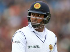 A half-century from Angelo Mathews has held up England (Nigel French/PA)