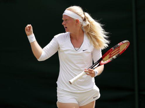 Francesca Jones suffered split fingers just days before the start of the Australian Open qualifying (Adam Davy/PA)