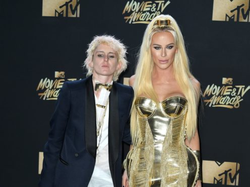 Nats Getty and Gigi Gorgeous attending the 2017 MTV Movie and TV Awards (PA)