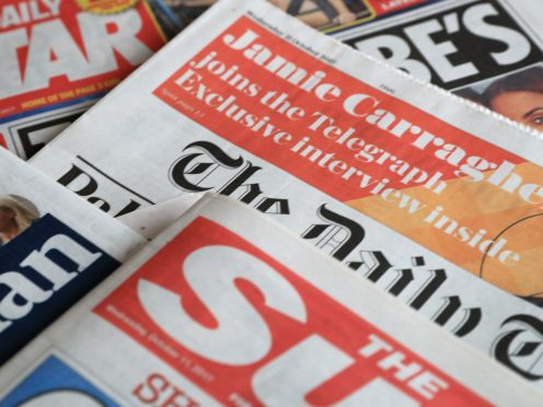 What the papers say – January 22 (Peter Byrne/PA)