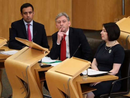 Anas Sarwar (left) and Monica Lennon (right) are hoping to fill the post left by Richard Leonard (Andrew Milligan/PA)