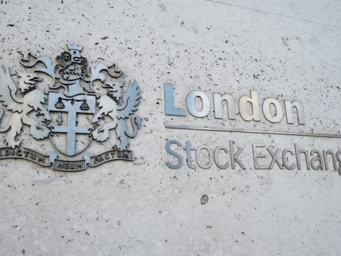 A view of the London Stock Exchange sign in the City of London (Kirsty O'Connor/PA)