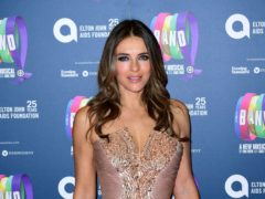Elizabeth Hurley braved the cold temperatures as she went topless in a risque snap posted to Instagram (Ian West/PA)