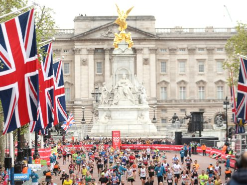 A general view of runners during the 2019 Virgin Money London Marathon (PA)