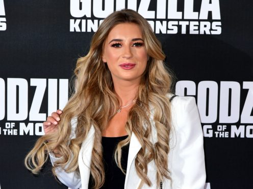 Dani Dyer during the Godzilla Special Screening at Leicester Square in London.