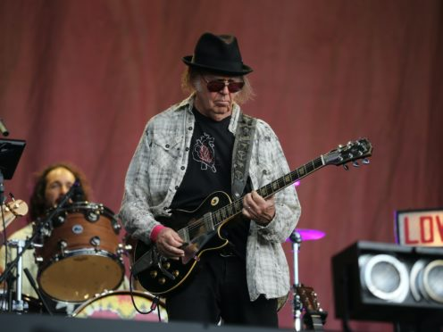 Neil Young performing at British Summer Time in Hyde Park, London (Isabel Infantes/PA)