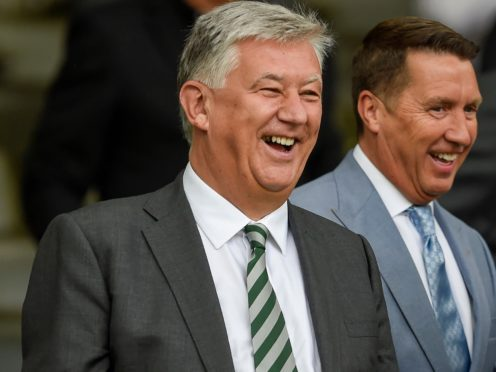 Celtic chief executive Peter Lawwell will leave the club in the summer (Ian Rutherford/PA)