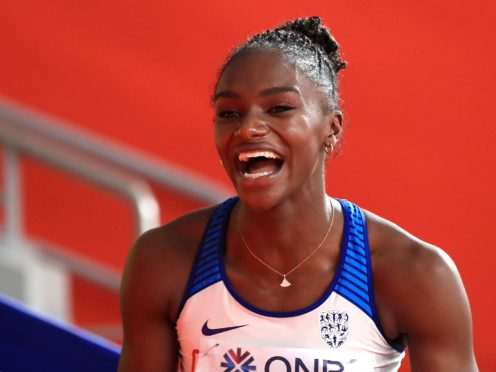 Dina Asher-Smith made a winning return to action in Karlsruhe (Mike Egerton/PA)
