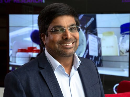 Professor Nishan Canagarajah, University of Leicester's vice-chancellor (Leicester University/PA)