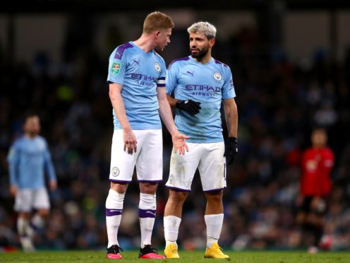Manchester City are without Kevin De Bruyne (left) and Sergio Aguero (right) this weekend (Tim Goode/PA)